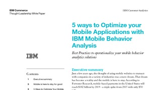 White paper 5 ways to optimize your mobile applicaitons with ibm mobile behavior analysis.pdf thumb rect large320x180
