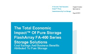 Report forrester total economic impact of pure storage flasharray fa400 series.pdf thumb rect large320x180