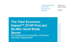 Report forrester total economic impact of hp proliant bl460c gen8 blade server.pdf thumb rect large320x180