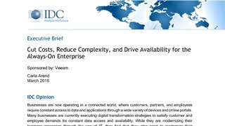 Idc executive brief cut costs reduce complexity for the always on enterprise.pdf thumb rect large320x180