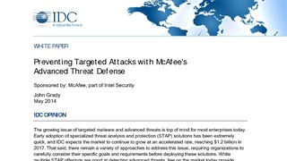 Idc report preventing targeted attacks with mcafees advanced threat defense.pdf thumb rect large320x180