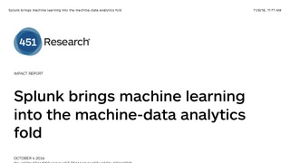 451 report splunk brings machine learning into th emachine data analytics fold.pdf thumb rect large320x180