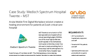 Aruba mobile first digital workplace solution creates a healing environment for patients at dutch critical care hospital.pdf thumb rect large320x180