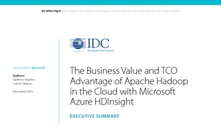 Idc business value tco advantage of hadoop with azure hdinsight.pdf thumb rect large320x180