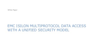 Emc isilon multiprotocol data access with a unified security model for smb and nfs.pdf thumb rect large320x180