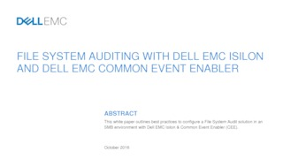 File system auditing with dell emc isilon and dell emc common event enabler.pdf thumb rect large320x180