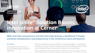 Intel unite solution boosts innovation at cerner brief.pdf thumb rect large320x180