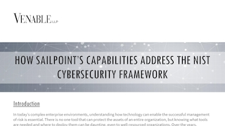 Venable sailpoint governance platform nist csf 32219.pdf thumb rect large320x180