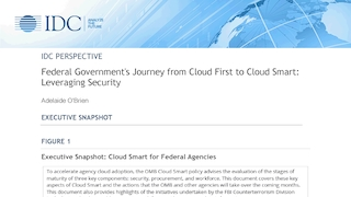 Idc  federal governments journey from cloud first to cloud smart   leveraging security.pdf thumb rect large320x180