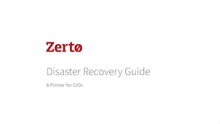 Zerto disaster recovery guide cio ebook.pdf thumb rect large320x180