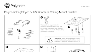 Polycom eagleeyetm iv usb camera ceiling mount bracket.pdf thumb rect large320x180
